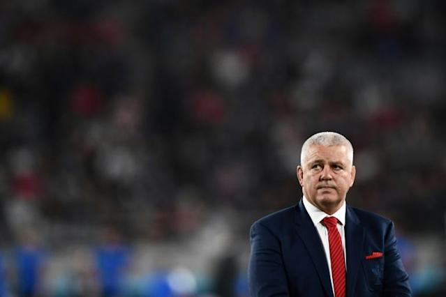 Warren Gatland bade a warm farewell to the Welsh rugby fans after a Barbarians side he coached against his former team lost 43-33 in Cardiff (AFP Photo/Anne-Christine POUJOULAT)