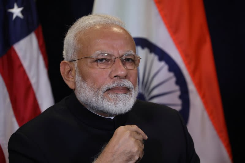India's Prime Minister Modi meets with U.S. President Trump on sidelines of U.N. General Assembly in New York City