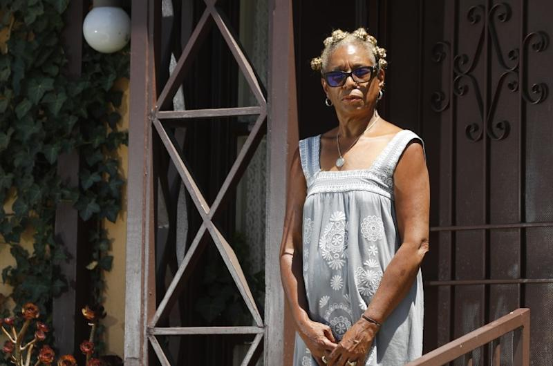 "LOS ANGELES, CALIF. - JULY 10, 2020. Veronica Sance, 60, lives in an apartment in the Crenshaw District and is worried about paying her rent after she was fired for what she said was discriminatory reasons, including complaints white workers made about her ""tone."" (Luis Sinco/Los Angeles Times)"