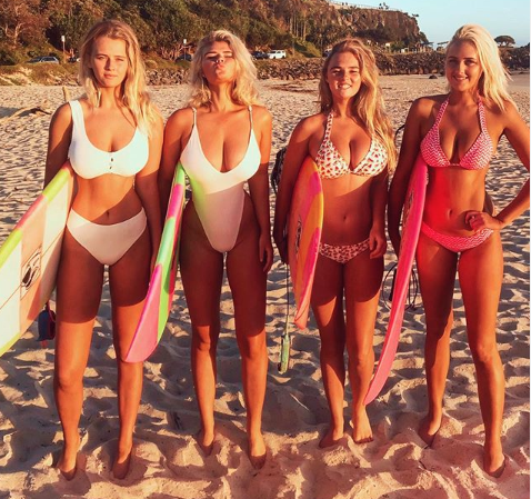 Meet some of Australia's top surfers: The Coffey sisters Photo: Instagram/hollydazecoffeyyy
