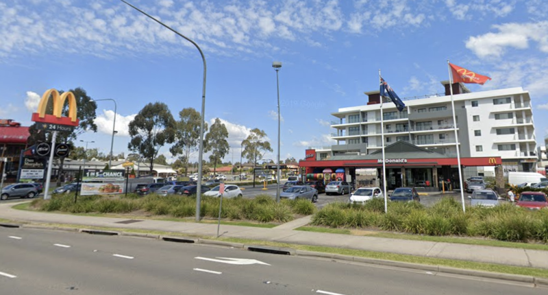 McDonald's at Kellyville is pictured.