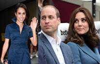 """<p>Shortly after, Meghan is reported to have met Prince Charles as well as the Duke and Duchess of Cambridge. Kate was said to be """"thrilled"""" with Harry's choice and vowed to help Meghan enter one of the most unique families on earth.<br><i>[Photo: Getty]</i> </p>"""