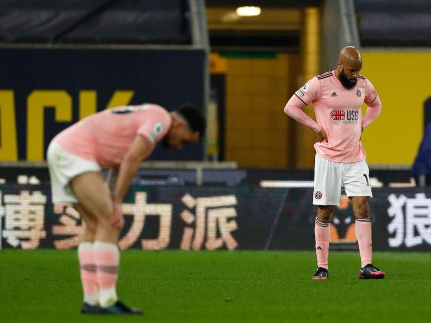Sheffield United's players react to their relegation (Getty Images)