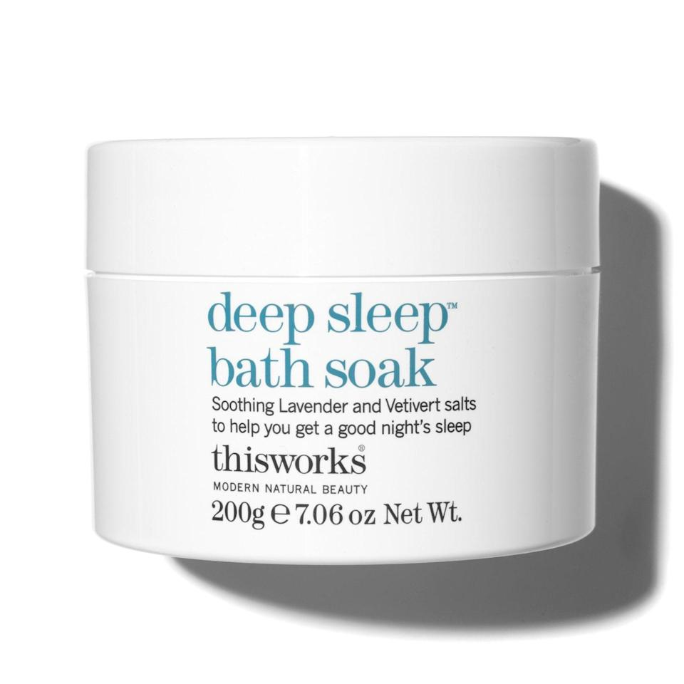 """ThisWorks' Deep Sleep Bath Soak won a 2020 <em>Allure</em> <a href=""""https://www.allure.com/gallery/best-of-beauty-body-skin-care-product-winners?mbid=synd_yahoo_rss"""" rel=""""nofollow noopener"""" target=""""_blank"""" data-ylk=""""slk:Best of Beauty Award"""" class=""""link rapid-noclick-resp"""">Best of Beauty Award</a> for its relaxing chamomile and lavender aromas. A spoonful of this in a warm tub is the perfect wind-down routine for any day of the week and leaves the lucky bather feeling as soft and smooth as can be — and ready to snooze the night away. Gift this to the person who takes relaxing very seriously, or on the opposite end of the spectrum, someone who has a hard time relaxing.<br> <br> <strong>$33</strong> (<a href=""""https://www.amazon.com/ThisWorks-Deep-Sleep-Bath-grams/dp/B006VT8GG4"""" rel=""""nofollow noopener"""" target=""""_blank"""" data-ylk=""""slk:Shop Now"""" class=""""link rapid-noclick-resp"""">Shop Now</a>)"""