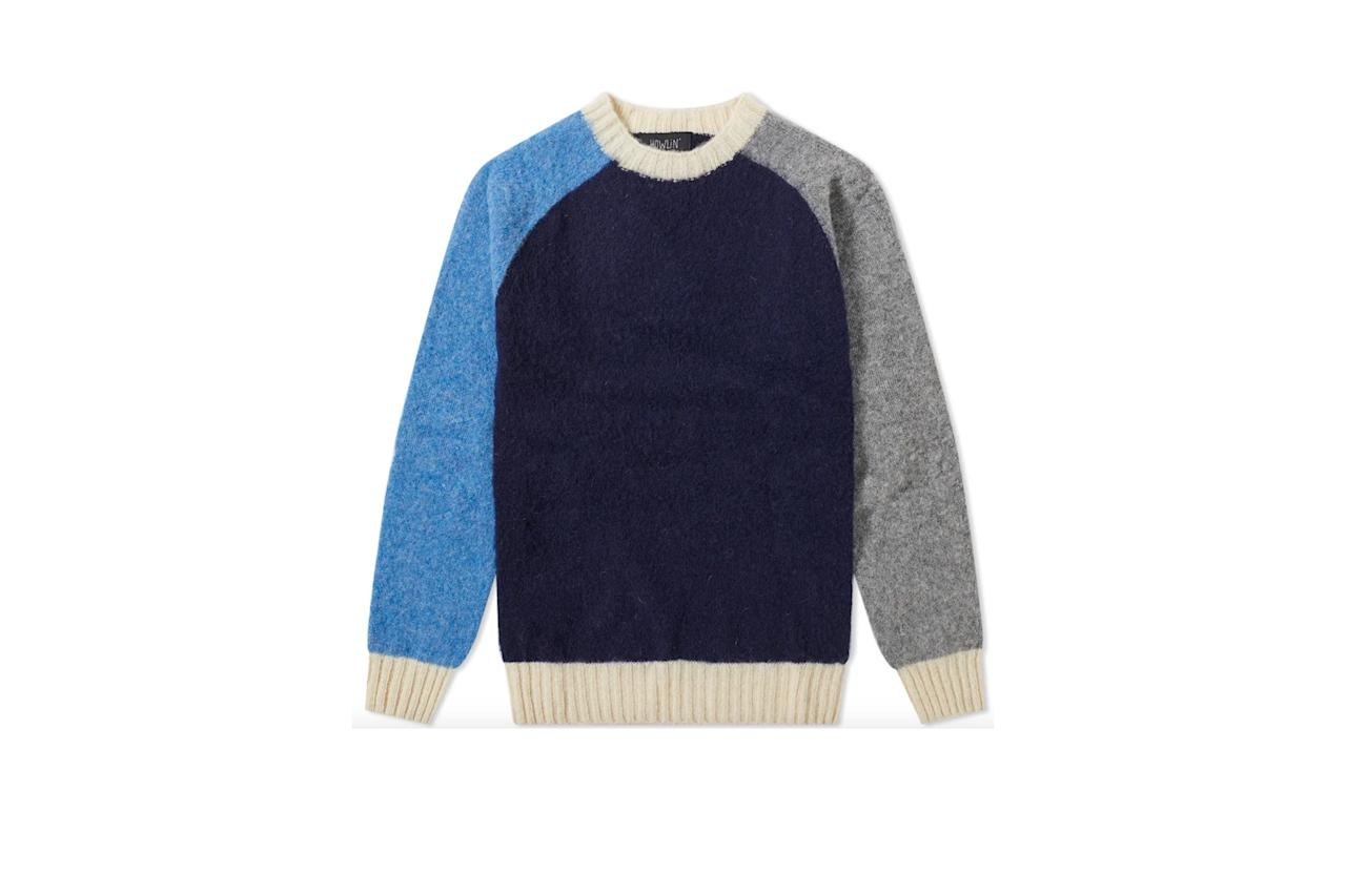 """$185, End Clothing. <a href=""""https://www.endclothing.com/us/howlin-wizard-contrast-crew-knit-hln-wzrdcrwknt-ny.html"""">Get it now!</a>"""