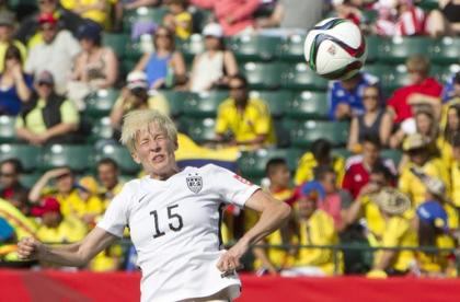 Megan Rapinoe has been one of the few consistent attacking threats. (The Canadian Press via AP)