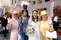 <p>All eyes were watching as Kate Middleton walked down the aisle to meet her dashing groom, Prince William. This Halloween, all eyes were on the plaza for the <em>Today</em> wedding as Kathie Lee Gifford and Hoda Kotb dressed in magnificent garb as Princess Beatrice and Princess Eugenie. Meanwhile, Ann Curry dressed up as Kate in this super close replica of the bride's dress. The standout though? Hands down: Meredith Vieira as Queen Elizabeth II. She even had the Queen's signature tiny purse!</p>