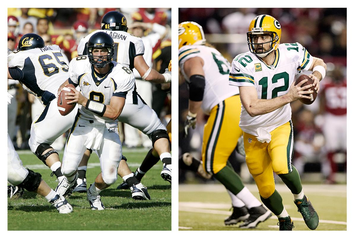 <p>Cal (L), Green Bay Packers (R)</p>
