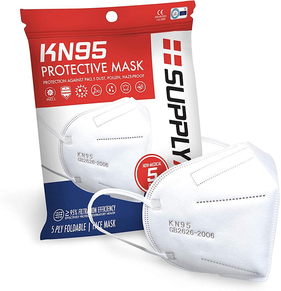 SupplyAID KN95 Masks, 5-Pack (Photo: Amazon)