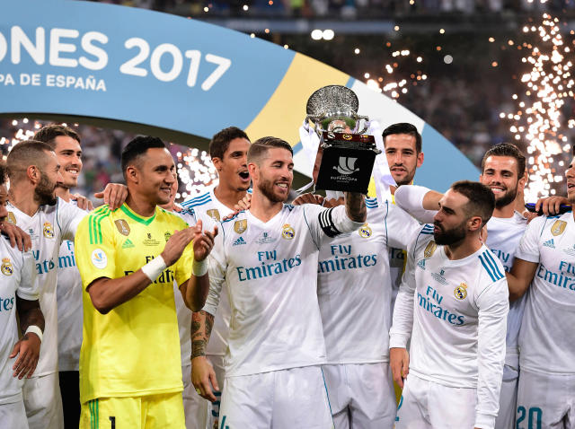 Real won the Spanish Super Cup 5-1 on aggregate: Getty