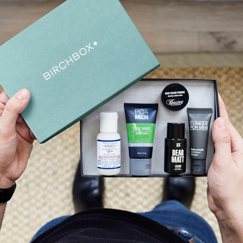 "<p><strong>Birchbox</strong></p><p>birchbox.com</p><p><strong>$30.00</strong></p><p><a href=""https://go.redirectingat.com?id=74968X1596630&url=https%3A%2F%2Fwww.birchbox.com%2Fproduct%2F33841&sref=https%3A%2F%2Fwww.goodhousekeeping.com%2Fholidays%2Fgift-ideas%2Fg27116208%2Fbest-gifts-for-dads%2F"" rel=""nofollow noopener"" target=""_blank"" data-ylk=""slk:Shop Now"" class=""link rapid-noclick-resp"">Shop Now</a></p><p>Help him discover new hair, face, and body grooming products with a special subscription to Birchbox, which will send five samples straight to his door each month.</p>"