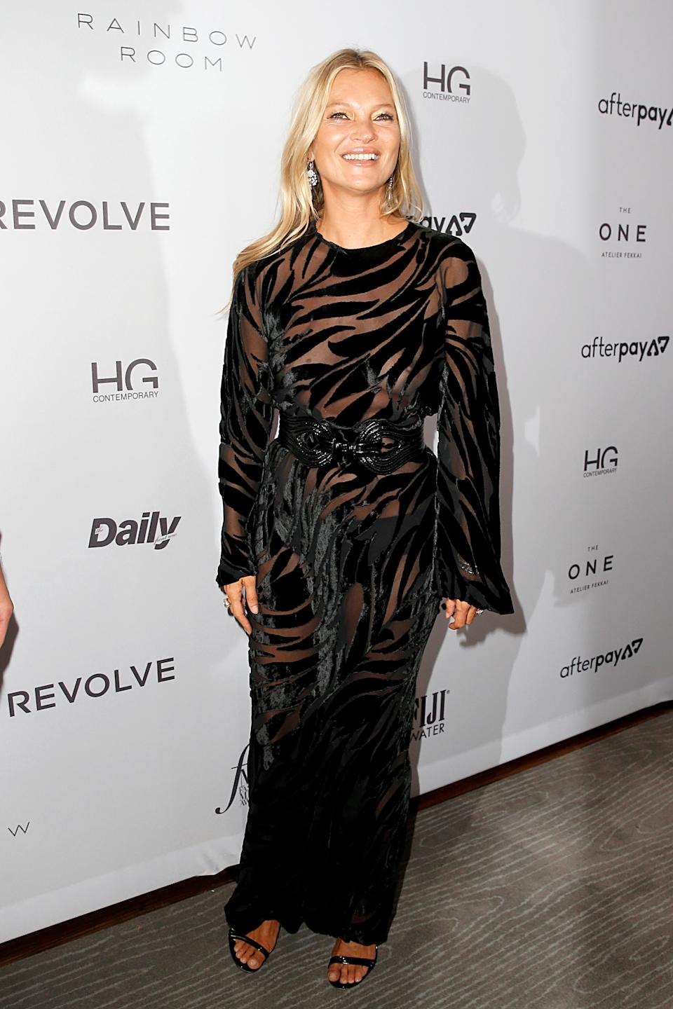 Kate Moss at the Daily Front Row's 2019 Fashion Media Awards [Photo: Getty Images]