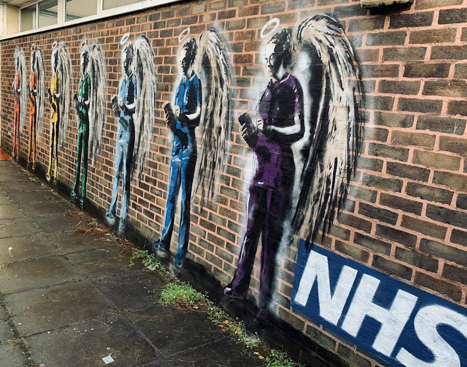 A mural by Worthing-based graffiti artist Horace at St Richard's Hospital in Chichester