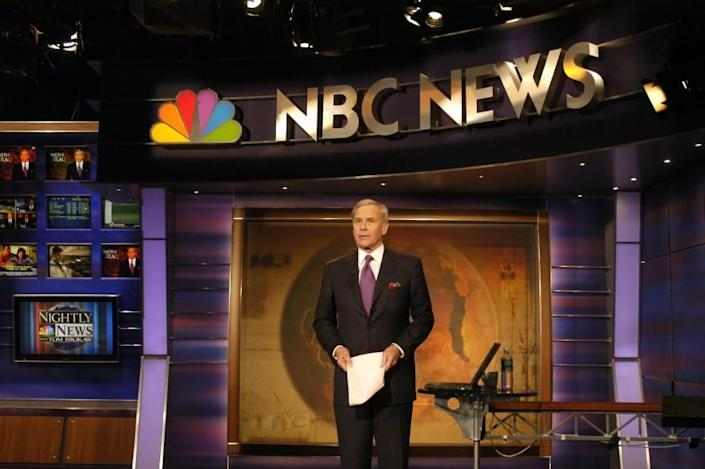 Tom Brokaw signs off for the final time on NBC Nightly News December 1, 2004 in New York.