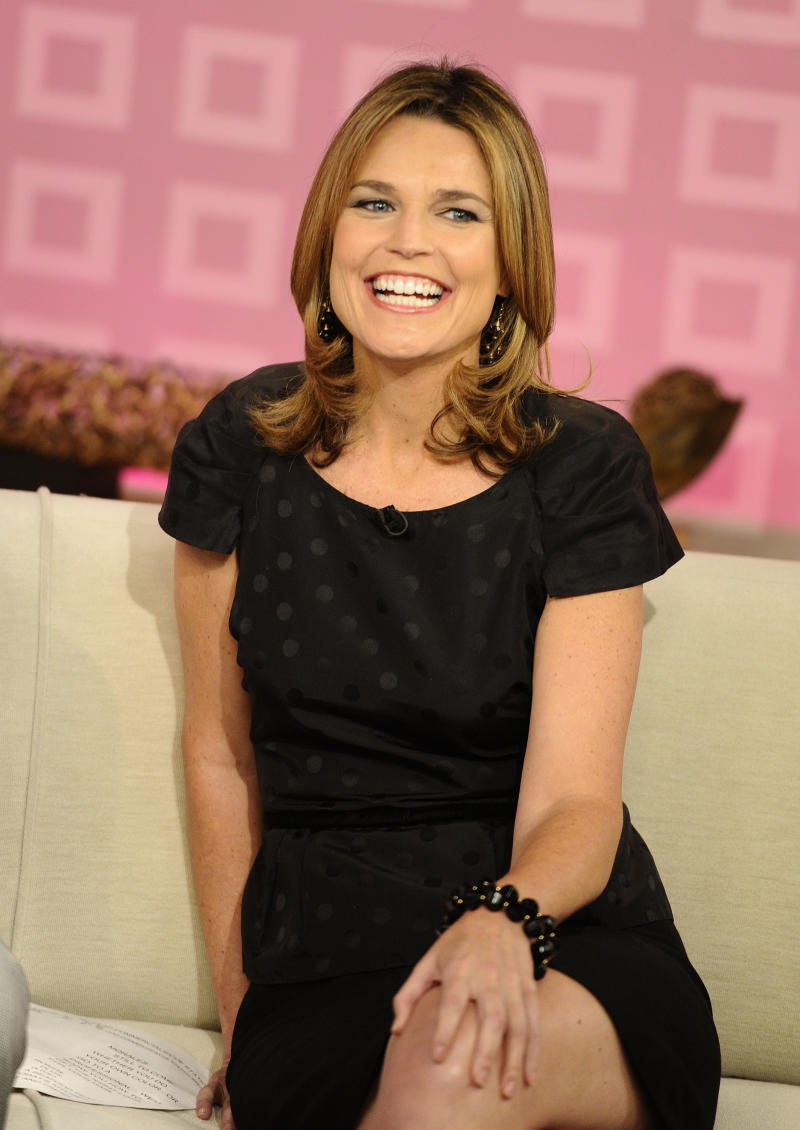 """CORRECTS TO CURRY WILL ANNOUNCE HER DEPARTURE, NOT HAS ANNOUNCED HER DEPARTURE -FILE - In a Wednesday, Aug. 10, 2011 file photo provided by NBC,  """"Today"""" show co-host Savannah Guthrie appears on the set during a broadcast, in New York. Guthrie is expected to replace Ann Curry  as """"Today"""" show co-host. Curry is expected to officially make her exit from NBC's """"Today"""" show after one year as co-host. She told USA Today she would announce her departure Thursday, June 28, 2012.  (AP Photo/NBC, Peter Kramer, File)"""