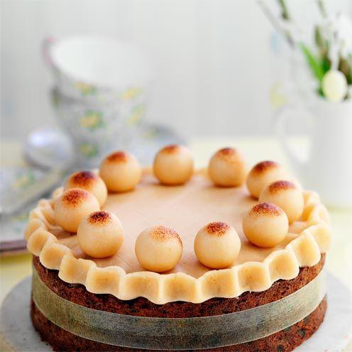 """<p>The light and fruity cake was originally a Mothering Sunday tradition, but over the years has become synonymous with Easter baking.</p><p><strong>Recipe: <a href=""""https://www.goodhousekeeping.com/uk/food/recipes/simnel-cake"""" rel=""""nofollow noopener"""" target=""""_blank"""" data-ylk=""""slk:Simnel cake"""" class=""""link rapid-noclick-resp"""">Simnel cake</a> </strong><br><br><br> </p>"""