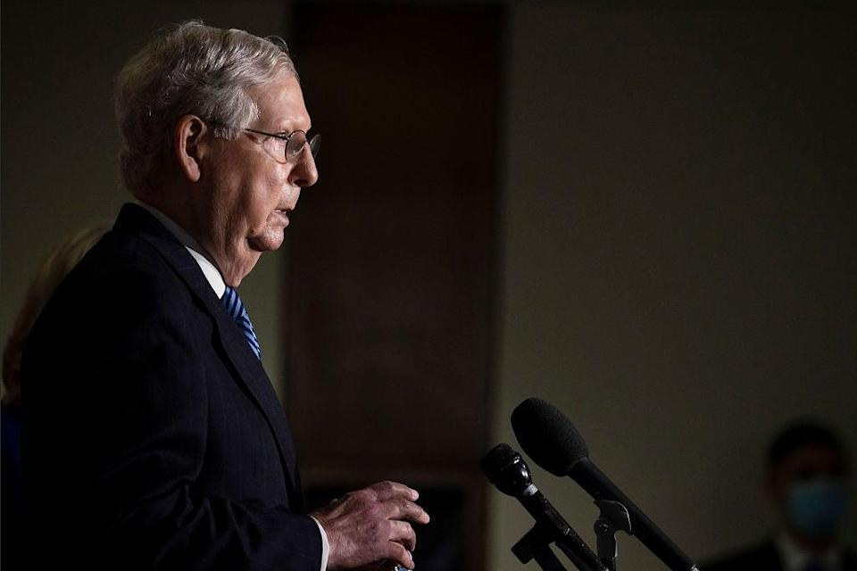 Senate Majority Leader Mitch McConnell and Democratic congressional leaders have been on two separate planets in their approach to more coronavirus relief. (Getty Images)