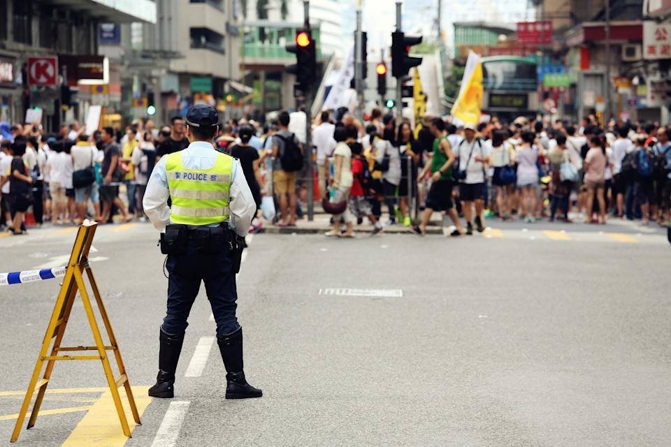 Hong Kong protests. Source: Getty