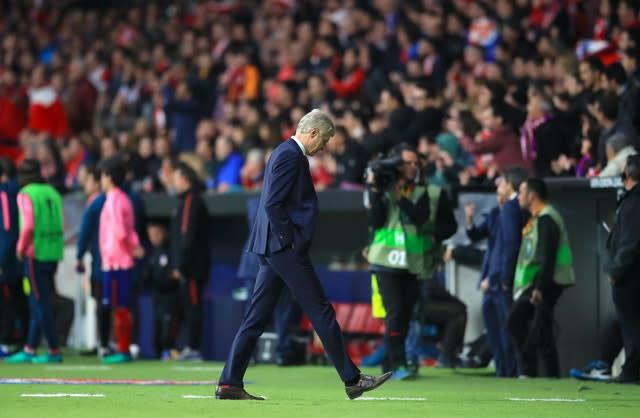 Days before the Atletico match, Wenger announced he would walk away from Arsenal at the end of the season (Adam Davy/PA)
