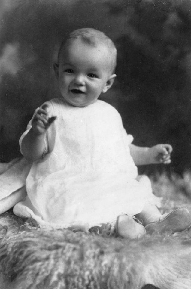 <p>Six month old Norma is seen in what's likely her first formal portrait.</p>