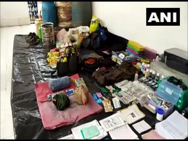 Items recovered from the Naxal couple. (Photo/ANI)