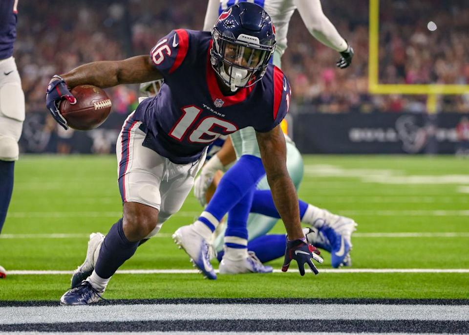 Keke Coutee might be stashed on benches due to injury, but he could pay dividends down the fantasy stretch. (Photo by Leslie Plaza Johnson/Icon Sportswire)