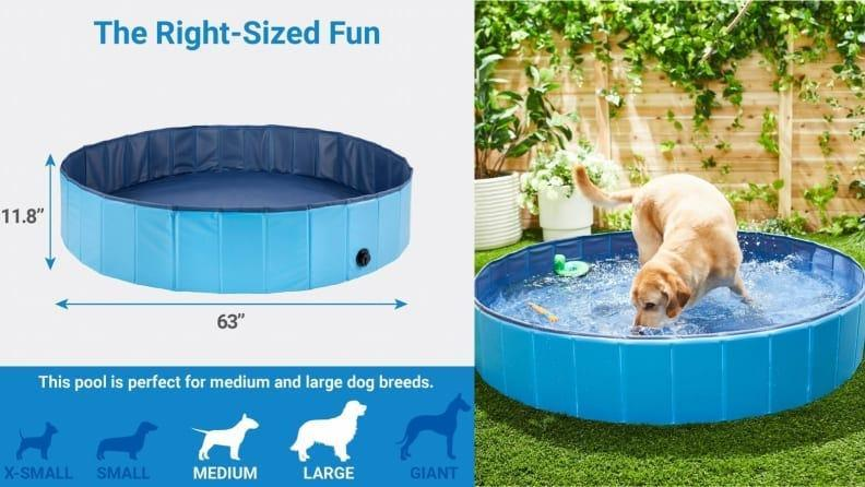 This Frisco pool for large dogs can also be used to give your pet a bath.