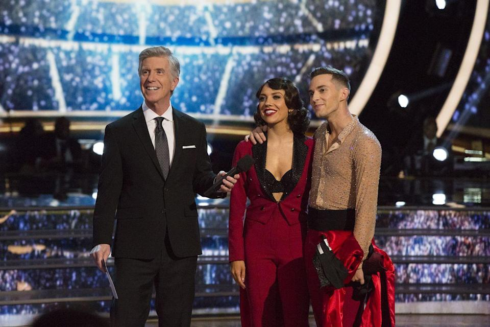 "<p>As soon as the team steps off of the dance floor, they're thrown in front of the <a href=""https://www.businessinsider.com/dancing-with-the-stars-behind-the-scenes-photos-2017-5#621-pm-pt-in-a-race-against-the-clock-the-judges-have-to-determine-their-scores-and-communicate-them-to-the-production-staff-12"" rel=""nofollow noopener"" target=""_blank"" data-ylk=""slk:camera for an interview"" class=""link rapid-noclick-resp"">camera for an interview</a>. While it may be a welcome distraction for some of the stars, as they wait for their scores to be determined, it's also necessary for the show to get their reactions to their performance.</p>"