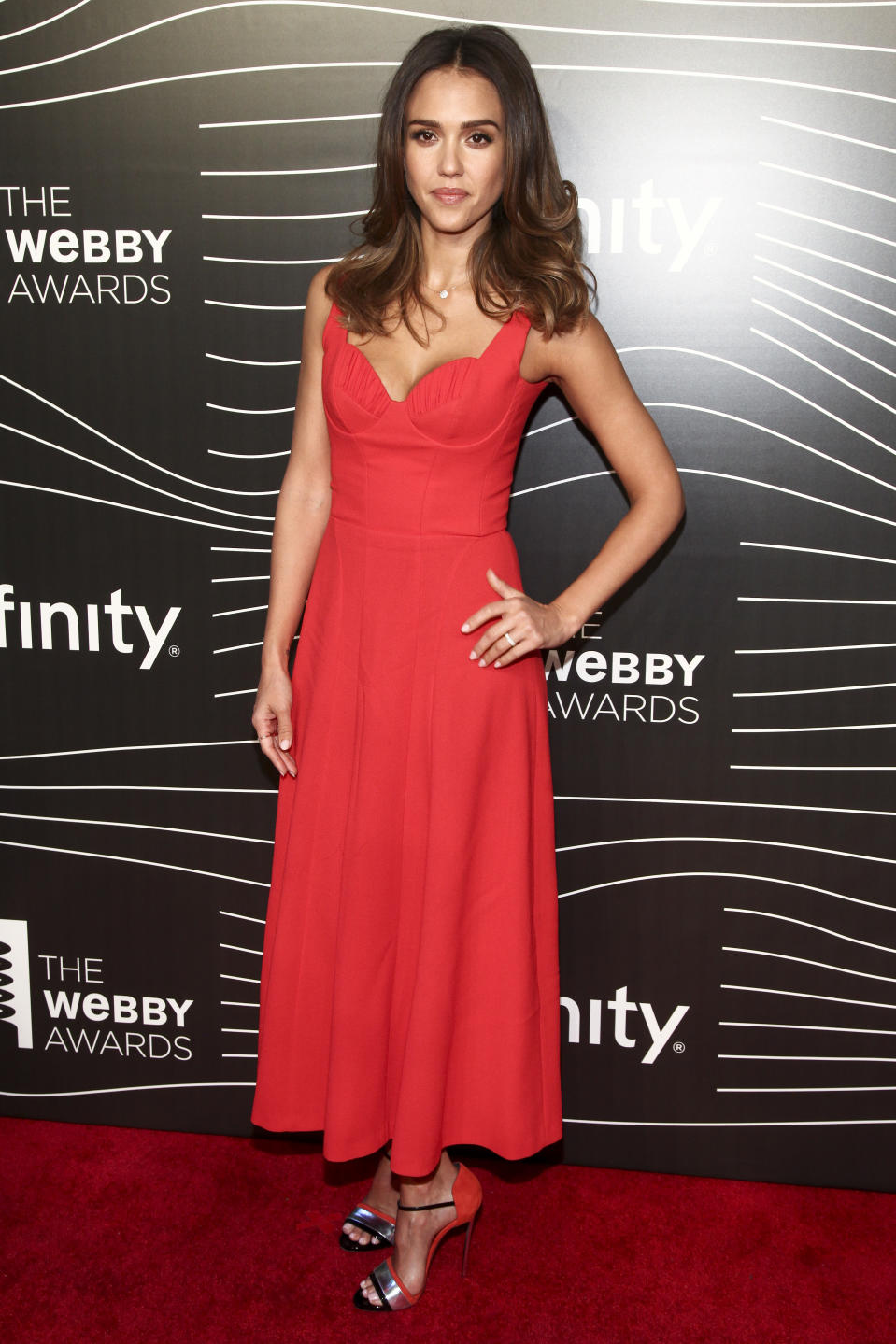 Jessica Alba attends the 20th Annual Webby Awards at Cipriani Wall Street on Monday, May 16, 2016, in New York. (Photo by Andy Kropa/Invision/AP)