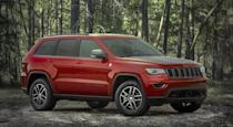 "<p>The <a href=""https://www.caranddriver.com/jeep/grand-cherokee"" rel=""nofollow noopener"" target=""_blank"" data-ylk=""slk:Grand Cherokee"" class=""link rapid-noclick-resp"">Grand Cherokee</a> Trailhawk is a legit off-roader. There's standard air-spring suspension that can be lifted at the push of a button to provide up to 10.8 inches of ground clearance. It also features a trick all-wheel-drive system with a two-speed transfer case and an electronic limited-slip rear differential. The Trailhawk's many selectable traction-control settings are hill-ascent and hill-descent modes that help to manage speed on angled surfaces. For 2020, changes are scant. There's a single-pane sunroof and some trim changes. The standard powerplant is the familiar 285-hp, 3.6-liter V-6 with the 360-hp, 5.7-liter version of the Hemi V-8 optional.</p>"