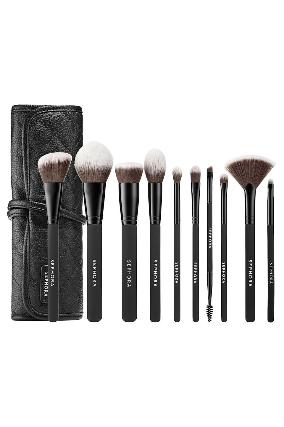"<p><strong>Sephora Collection</strong></p><p>sephora.com</p><p><strong>$72.00</strong></p><p><a href=""https://go.redirectingat.com?id=74968X1596630&url=https%3A%2F%2Fwww.sephora.com%2Fproduct%2Fready-to-roll-brush-set-P420011&sref=https%3A%2F%2Fwww.elle.com%2Ffashion%2Fshopping%2Fg34208929%2Fgift-ideas-for-college-students%2F"" rel=""nofollow noopener"" target=""_blank"" data-ylk=""slk:Shop Now"" class=""link rapid-noclick-resp"">Shop Now</a></p><p>Invest in the budding beauty blogger with a quality makeup brush set that includes every tool they need for a full face beat. </p>"