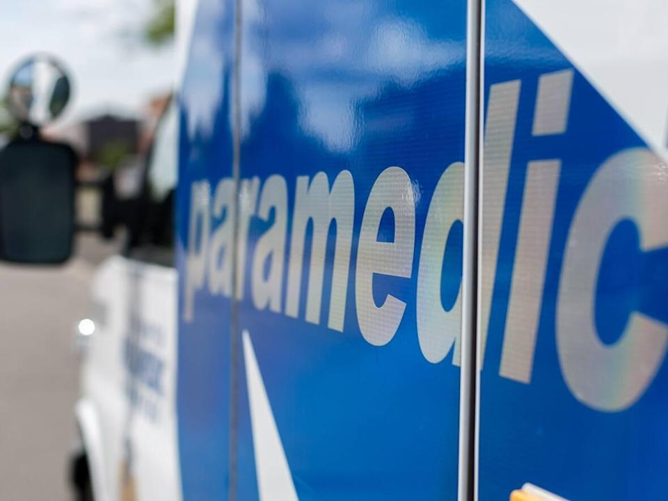 Toronto paramedics have rushed a man in his 20s to trauma centre after a motorcycle crash on Lake Shore Boulevard. (David Donnelly/CBC - image credit)