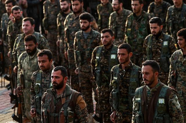 US support for Kurdish fighters during the Syria conflict has been a major source of friction with NATO ally Turkey. The US regards the YPG as an effective ground force in the fight against IS jihadists (AFP Photo/Delil SOULEIMAN)