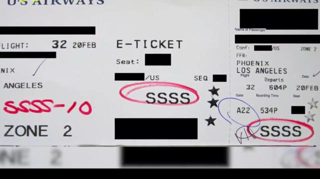 Getting through airport security can take forever, but four little letters on your boarding pass are a clue you're in for even more screening.