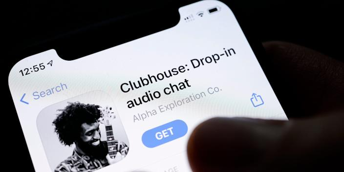 he invitation-only audio-chat social networking app clubhouse is pictured on a smartphone on January 26, 2021 in Berlin, Germany.