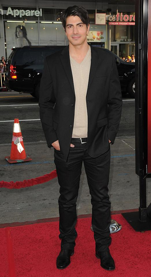 "<a href=""http://movies.yahoo.com/movie/contributor/1808522591"">Brandon Routh</a> at the Los Angeles premiere of <a href=""http://movies.yahoo.com/movie/1810070753/info"">Scott Pilgrim vs. the World</a> - 07/27/2010"