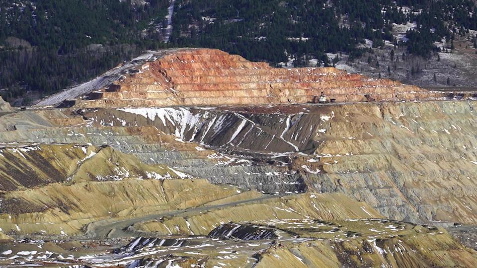 The remains of Butte's once-prosperous mining industry. / Credit: CBS News
