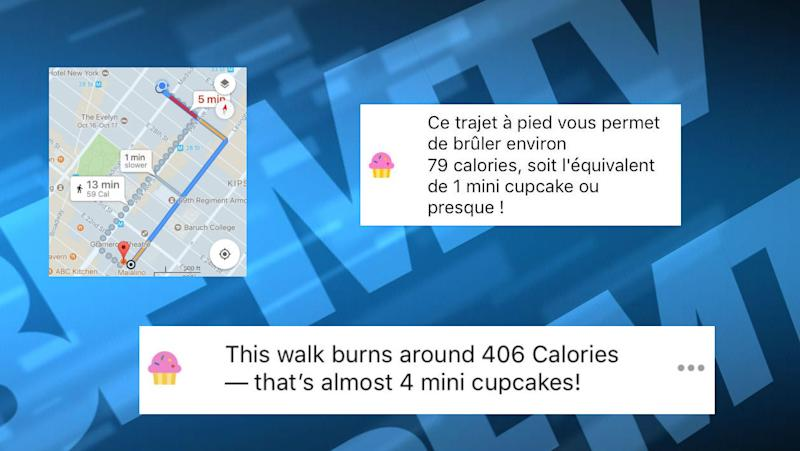 google maps retire un compteur de calories controvers de son application. Black Bedroom Furniture Sets. Home Design Ideas