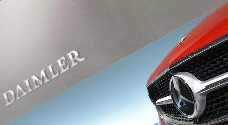 FILE PHOTO: The Mercedes star logo of an E Coupe is pictured before the annual news conference of Daimler AG in Stuttgart, Germany, February 2, 2017.   REUTERS/Michaela Rehle/Files