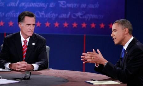 President Obama was the clear aggressor at the outset of the final presidential debate.