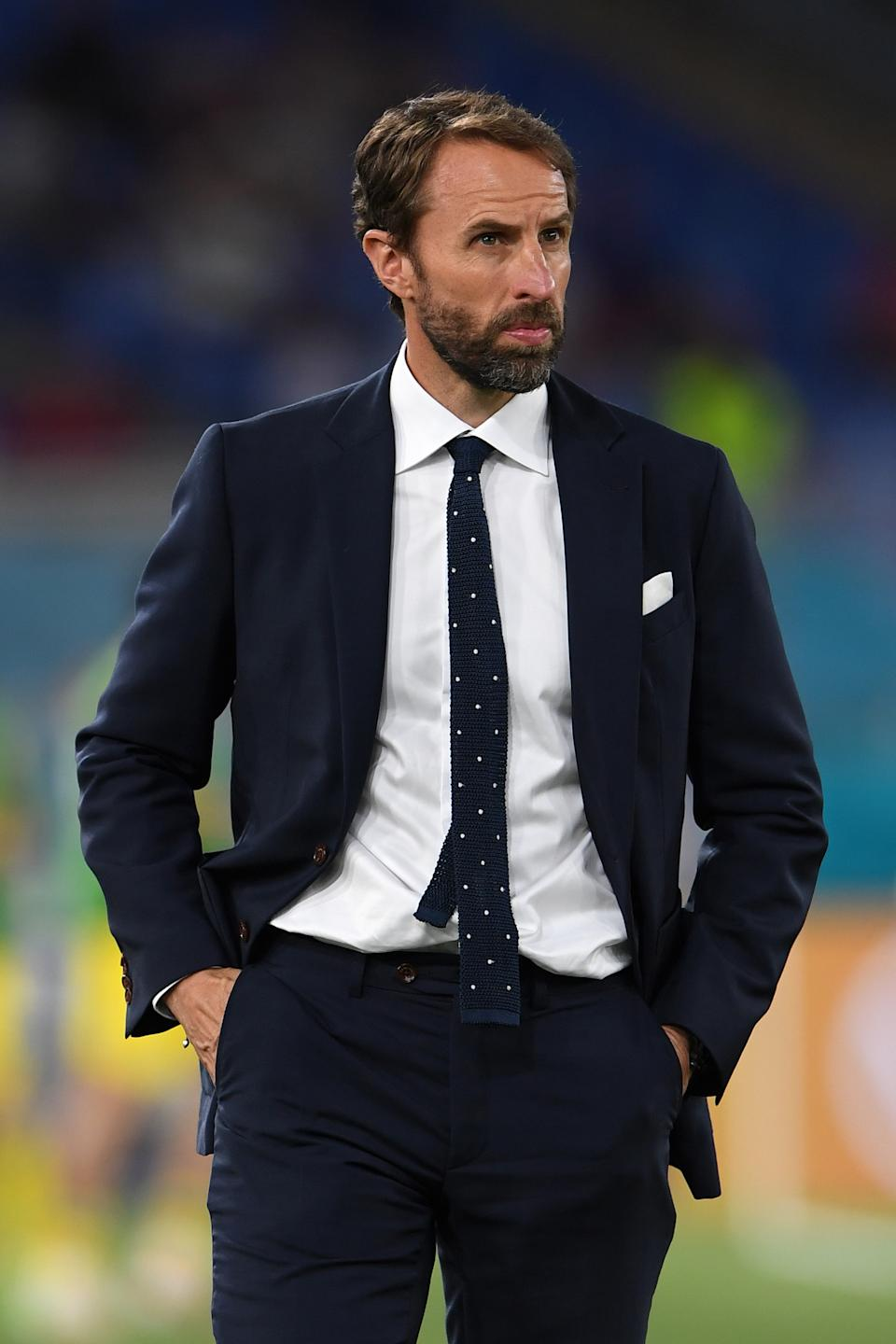 Gareth Southgate's navy polka dot tie is said to be the
