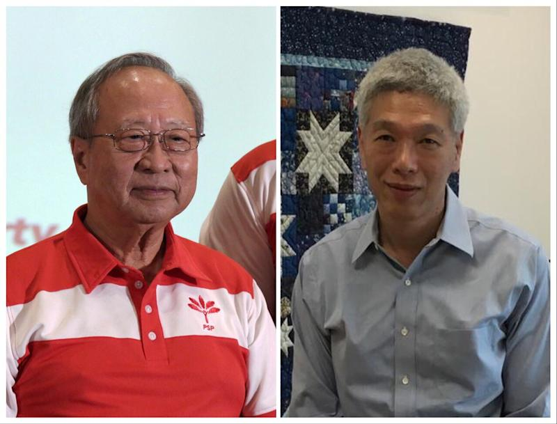 Photos: Tan Cheng Bock (left) and Lee Hsien Yang (right): Dhany Osman and Nicholas Yong / Yahoo News Singapore