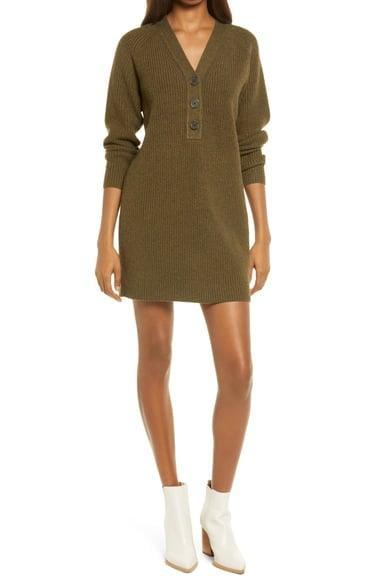 <p>You'll spend all your time in this comfortable <span>Madewell Henley Long Sleeve Sweater Dress</span> ($89, originally $118).</p>