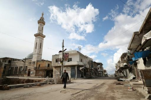 The streets of Saraqeb are near deserted after weeks of deadly bombardment by the government and its ally Russia ally