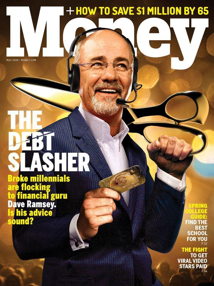 In rant we trust: Dave Ramsey's network encompasses radio, TV, live events, and millions across multiple social media channels. | Photo Illustration by Eddie Guy; Josh Anderson—AP