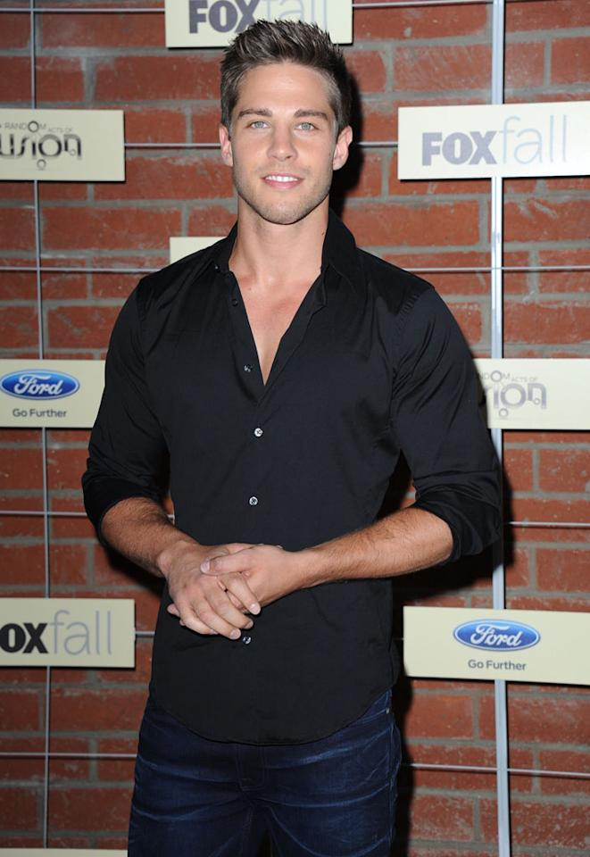 "Dean Geyer (""Glee"") attends Fox's Fall 2012 Eco-Casino party at The Bookbindery on September 10, 2012 in Culver City, California."