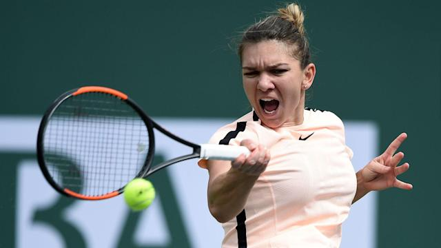 Petra Martic was a break up in the final set, but Simona Halep showed why she is world number one to progress at Indian Wells.