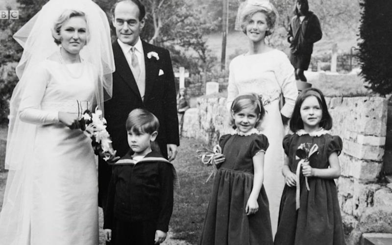 Mary Berry on her wedding day  - Credit: BBC