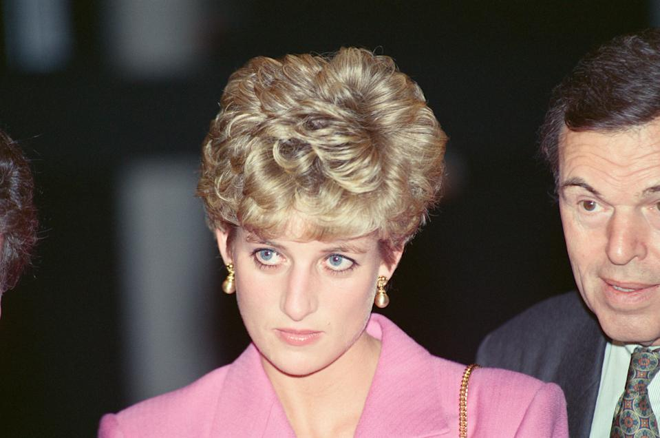 Princess Diana, in Paris, France. On this day in Paris she visited the The Contemporary School Of Music and Terence Conran's Emporium On The Left Back, picture taken 14th November 1992. (Photo by Kent Gavin/Mirrorpix/Getty Images)