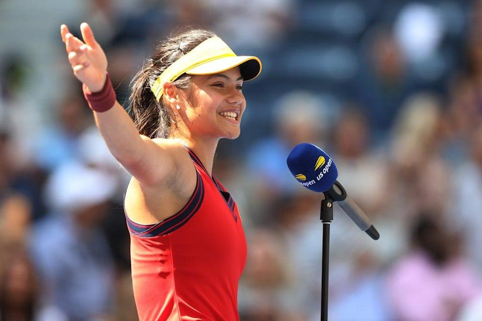 Emma Raducanu paid tribute to her parents after defeating Belinda Bencic (Getty Images)